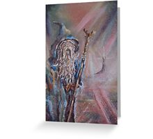 Gandalf (The colours of Saruman) Acrylic/Oil on textured canvas. Greeting Card