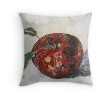 """Pretty Apple"" Throw Pillow"
