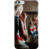 Sexy girl in the mirror iPhone Case/Skin
