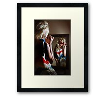 Sexy girl in the mirror Framed Print