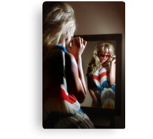 Sexy girl in the mirror Canvas Print