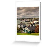 Lunenburg Harbour Greeting Card