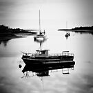 Boats on the Leven River by Antonia Newall