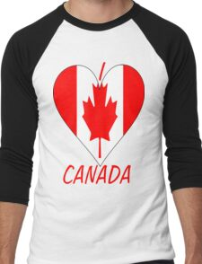 I Love Canada Men's Baseball ¾ T-Shirt