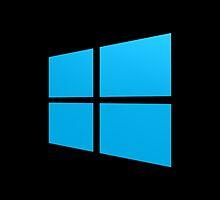 Windows logo - blue on black by lp4so