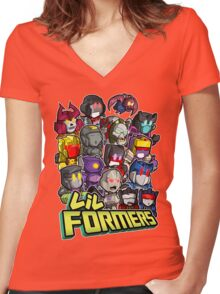 Lil Formers Bad Bots Women's Fitted V-Neck T-Shirt