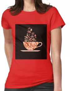 Alice In Wonderland Teaparty Womens Fitted T-Shirt