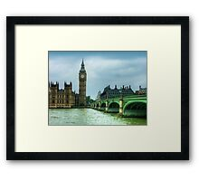 Westminster Bridge and Big Ben Framed Print