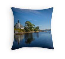 Indian Point on Mahone Bay, Nova Scotia, Canada Throw Pillow