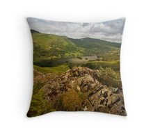 Rydal Water  from Loughrigg Fell  Throw Pillow