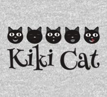 Kiki Cat Happy Faces Kids Tee