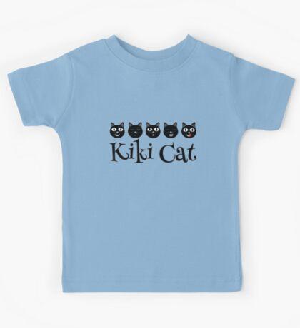 Kiki Cat Happy Faces Kids Tee