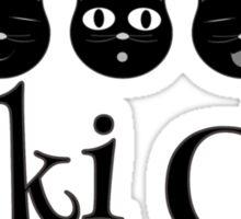Kiki Cat Happy Faces Sticker