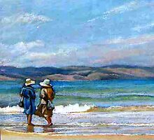 A Paddle - Apollo Bay by Lynda Robinson
