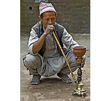Smoking the hookah Photographic Print