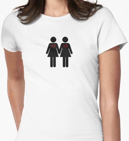 100% Geek Love F Womens Fitted T-Shirt