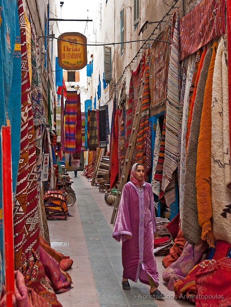 Walking in the streets of Essaouira by Konstantinos Arvanitopoulos