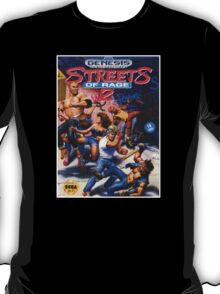 Streets Of rage 2 Genesis Megadrive Sega Box cover T-Shirt