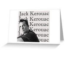 Jack Kerouac Portrait Greeting Card