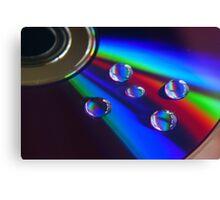 DVD droplets Canvas Print
