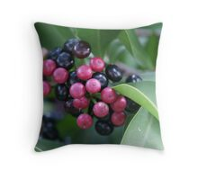 Mystery Berries Throw Pillow