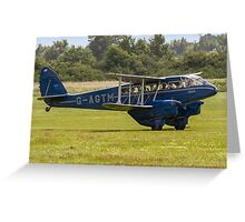 "DH.89a Dragon Rapide 6 G-AGTM ""Sybille"" Greeting Card"
