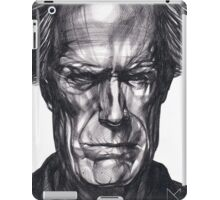 Clint Eastwood Drawing, 2013. Black Ink Pen on Paper. iPad Case/Skin