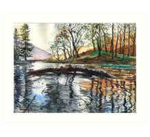 "...""Lanty's Tarn"" after mikebov photo. Art Print"
