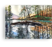 "...""Lanty's Tarn"" after mikebov photo. Canvas Print"