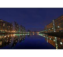Salford Quays at Night Photographic Print