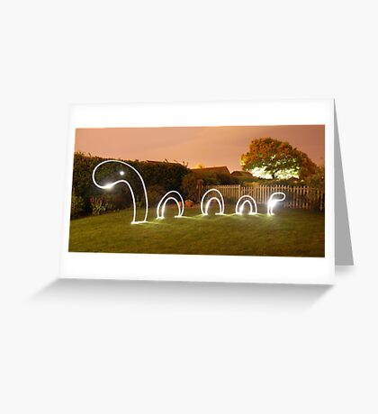 Light Monster Greeting Card