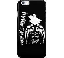 Train Insaiyan it's Over 9000 Goku iPhone Case/Skin