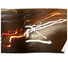 light trail Poster