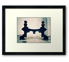 Foot Scrape Framed Print