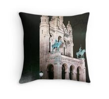 Sacre Coeur front Throw Pillow