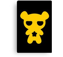 Lazy Bear Yellow Attention Canvas Print