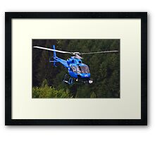 BBC News Helicopter Framed Print