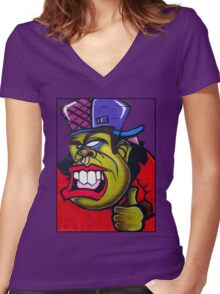 The Big Bad One (v1) Women's Fitted V-Neck T-Shirt