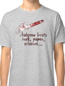 chainsaw beats rock, paper, scissors Classic T-Shirt