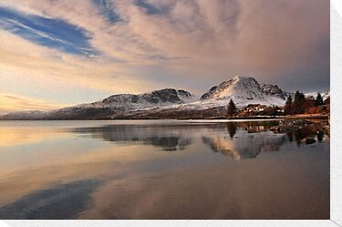 A Winters Reflection, The Applecross Hills ,Scotland. by photosecosse /barbara jones