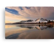 A Winters Reflection, The Applecross Hills ,Scotland. Canvas Print