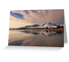 A Winters Reflection, The Applecross Hills ,Scotland. Greeting Card