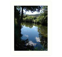 Gois, river, reflections Art Print
