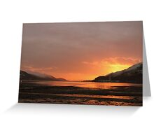 Winter sunset from Caol beach Greeting Card