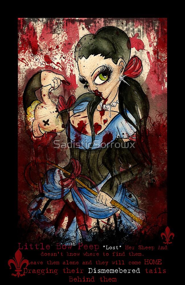 Little bow peep by SadisticSorrowx