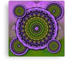 Floral Kaleidoscopes Canvas Print