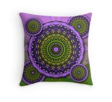 Floral Kaleidoscopes Throw Pillow