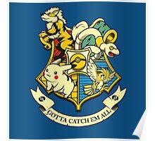 pokemon hogwarts logo Poster