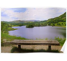 The Lake District: The Bench at Rydal water Poster