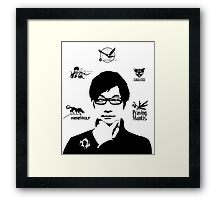 Hideo Kojima Metal Gear Framed Print